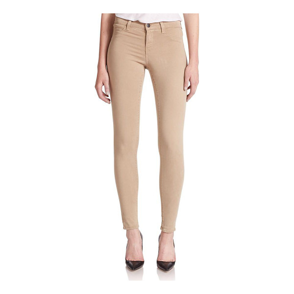 J BRAND 485 mid-rise sateen skinny jeans - Luxe, sateen skinny jeans with a sleek fit and seasonless...