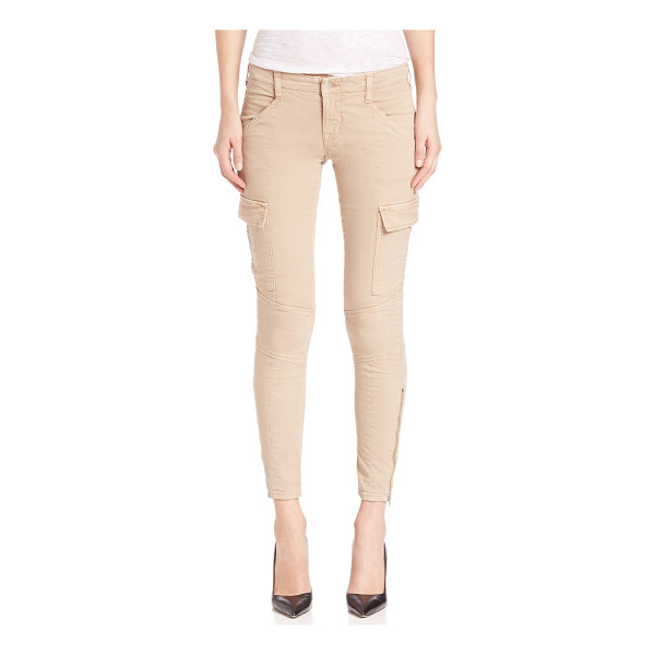 J BRAND mid-rise houlihan cargo pants - Distinctive seaming style these mid-rise jeans. Belt loops....