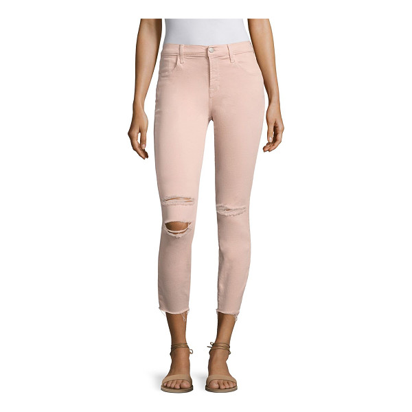 J BRAND alana distressed skinny jeans - EXCLUSIVELY AT SAKS FIFTH AVENUE. Elongating high-rise...