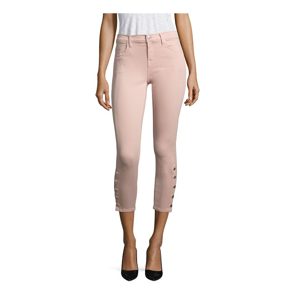 J BRAND suvi photo ready cropped utility jeans - Cropped skinny jeans with utilitarian button hem. Belt...