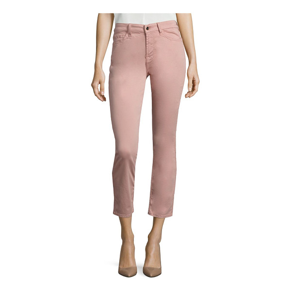 JEN7 brushed sateen ankle skinny jeans - Soft sateen skinny jeans in flattering ankle length. Zip...