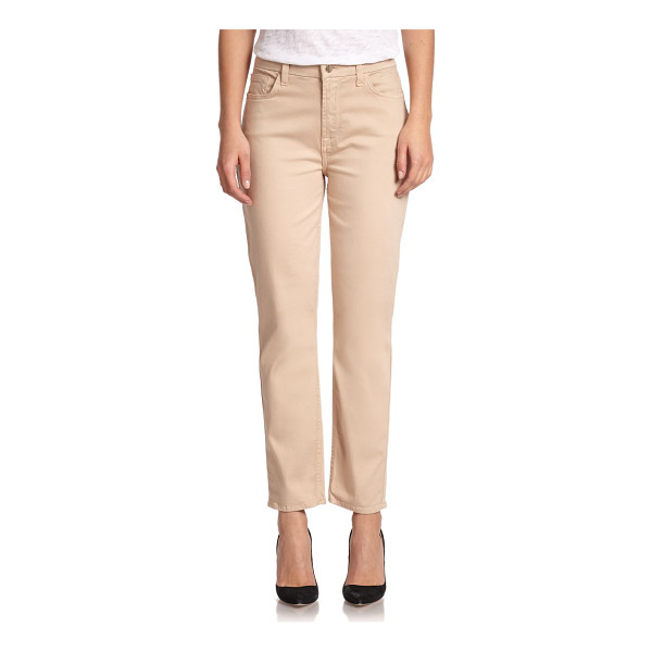 JEN7 Cropped skinny sateen jeans - Luxurious sateen-finished pants in a flattering silhouette...