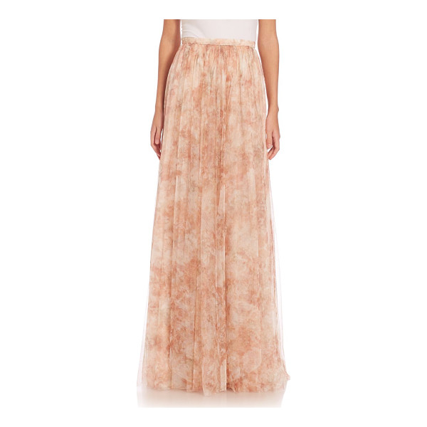 JENNY YOO arabella printed tulle maxi skirt - Flowing A-line skirt in feminine printed tulle. Banded...