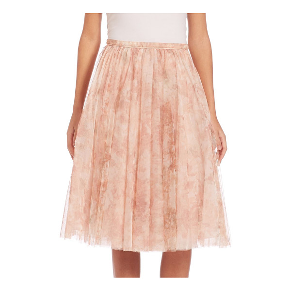 JENNY YOO lucy printed tulle midi skirt - Ethereal A-line skirt in ladylike printed tulle. Banded...