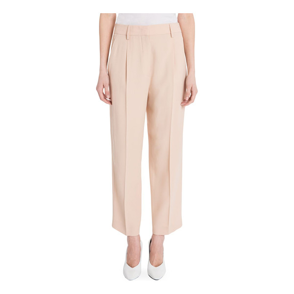 JIL SANDER dustin cropped pants - Pleated zip-front pants in cropped silhouette. Belt loops....