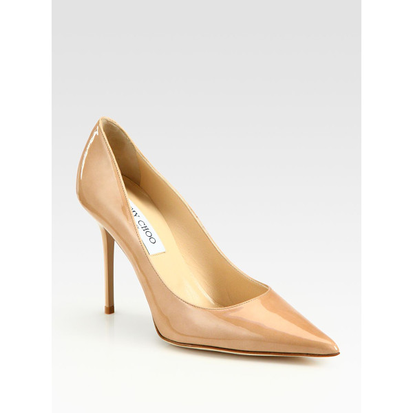JIMMY CHOO Abel patent leather pumps - Sophisticated silhouette in glossy patent...