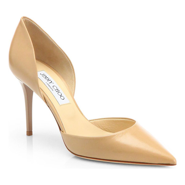 JIMMY CHOO addison 80 leather d'orsay pumps - Try a leather d'Orsay silhouette for an elegant twist on