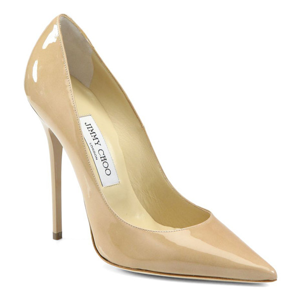 JIMMY CHOO anouk patent leather point toe pumps - A classic silhouette is executed in sleek patent leather....