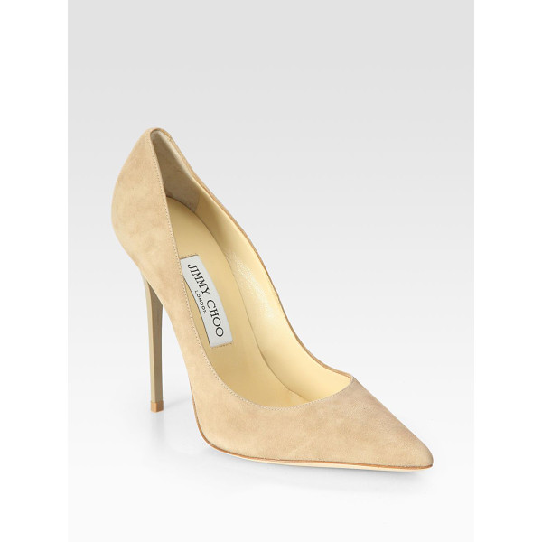 JIMMY CHOO Anouk suede pumps - Velvety suede points the way to an ultra-modern classic in...