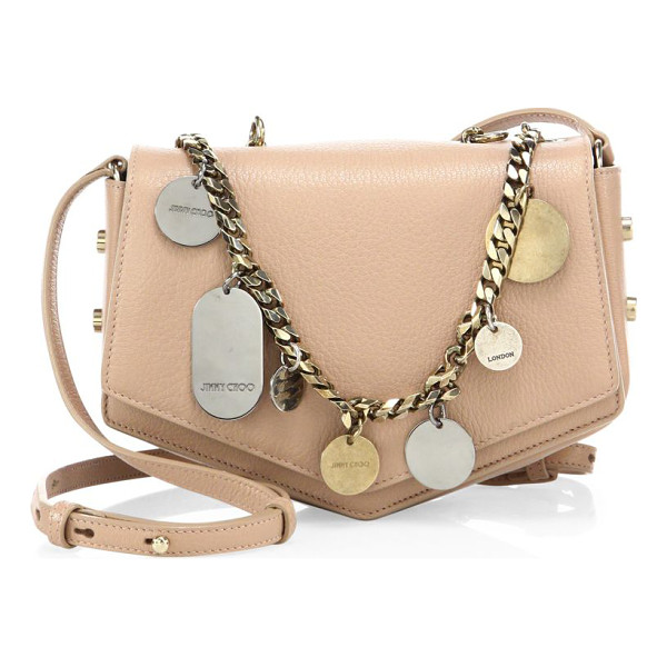 JIMMY CHOO arrow embellished chain & leather crossbody bag - Arrow-inspired crossbody with embellished chain detail.