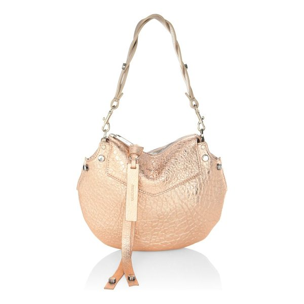 JIMMY CHOO artie mini handbag - Metallic grainy handbag with ample storage space. Removable...