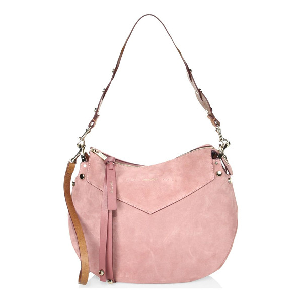 JIMMY CHOO artie suede shoulder bag - Relaxed hobo design in smooth suede with braided strap.