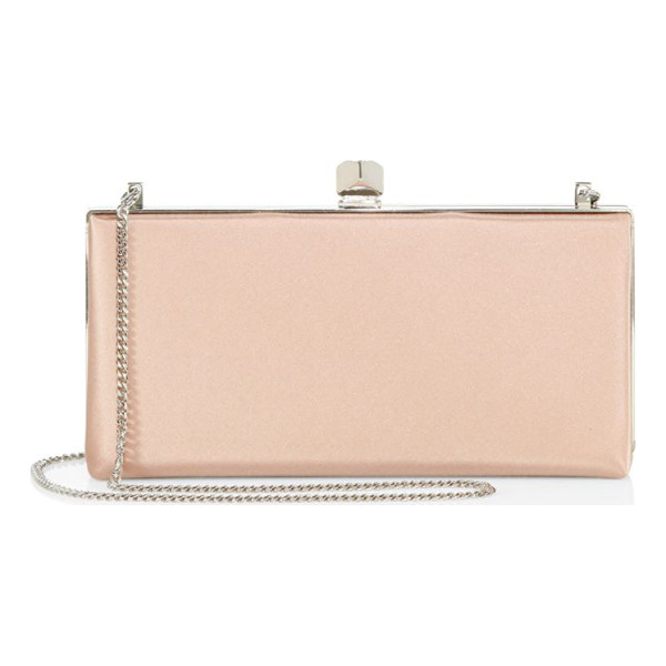 JIMMY CHOO celeste satin clutch - EXCLUSIVELY AT SAKS FIFTH AVENUE. Elegant satin frame...