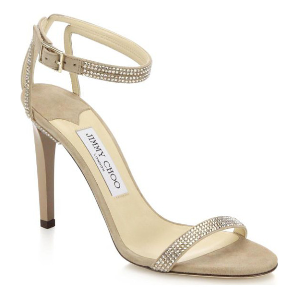 JIMMY CHOO Daisy crystal-embellished sandals - Sophisticated and simply glamorous, these single-strap...