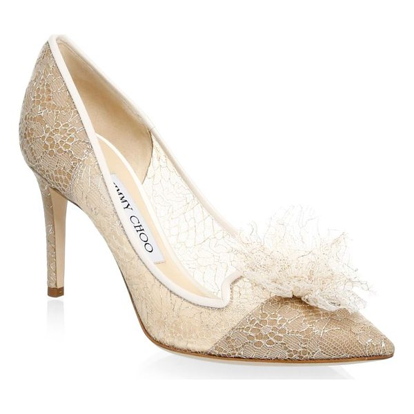"JIMMY CHOO estelle slip-on pumps - Stiletto heel, 3.34"" (85mm).Textile upper. Point toe...."