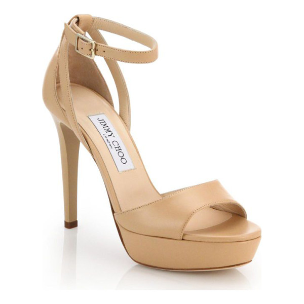 JIMMY CHOO kayden 115 leather sandals - EXCLUSIVELY AT SAKS FIFTH AVENUE. Classic yet...