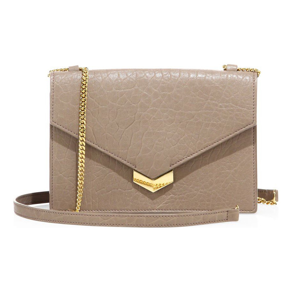 JIMMY CHOO leila mini leather crossbody bag - Mini grainy leather silhouette with envelope flap.