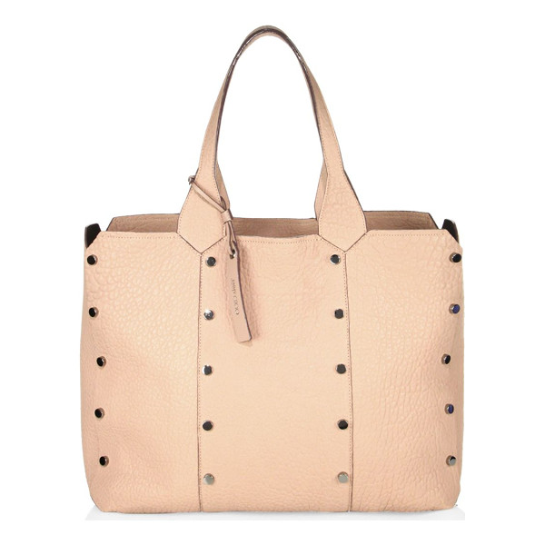 JIMMY CHOO lockett lamb leather shopper - Textured lamb shopper with columns of stud trims. Double