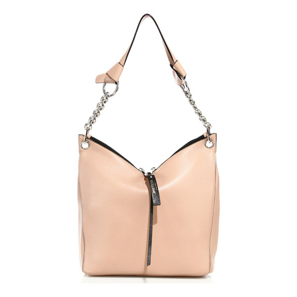 JIMMY CHOO raven small leather shoulder bag - Understated yet elegant shoulder design with gleaming chain