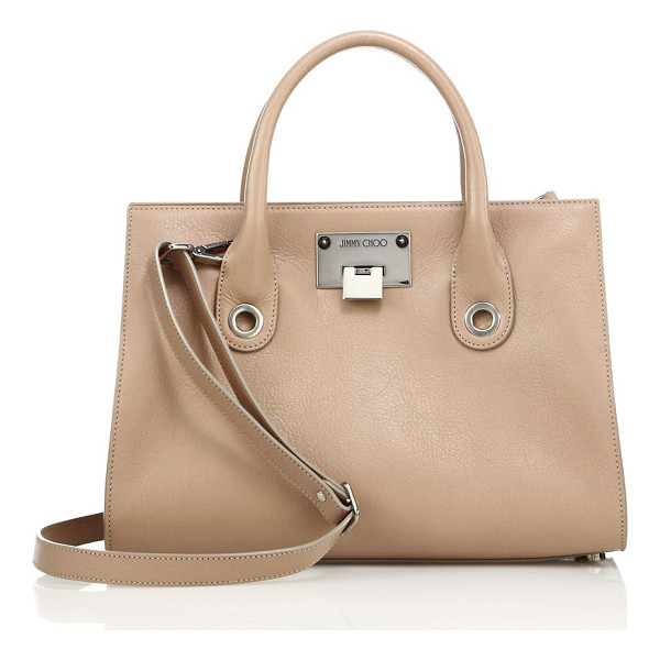 JIMMY CHOO riley leather tote - Structured shape rendered in polished grained leather.