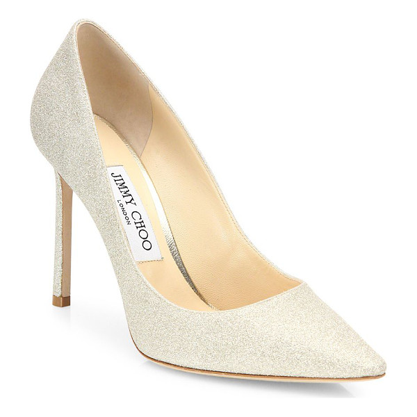 JIMMY CHOO romy 100 glitter degrade point toe pumps - Update to Jimmy Choo's classic 'Abel' pump. Dazzling