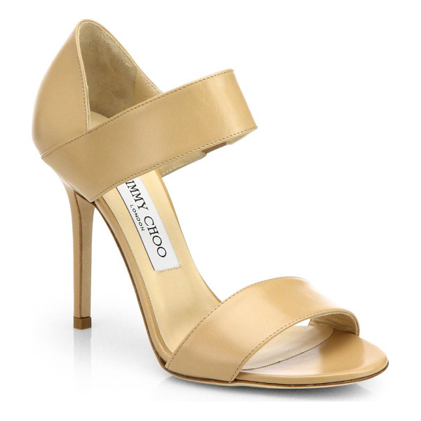 JIMMY CHOO Tallow kid leather sandals - A timelessly elegant design is constructed in supple...