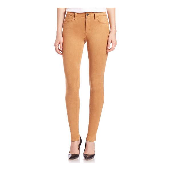 JOE'S Icon faux suede ankle skinny jeans - Meticulously crafted in faux suede, this five-pocket jean...