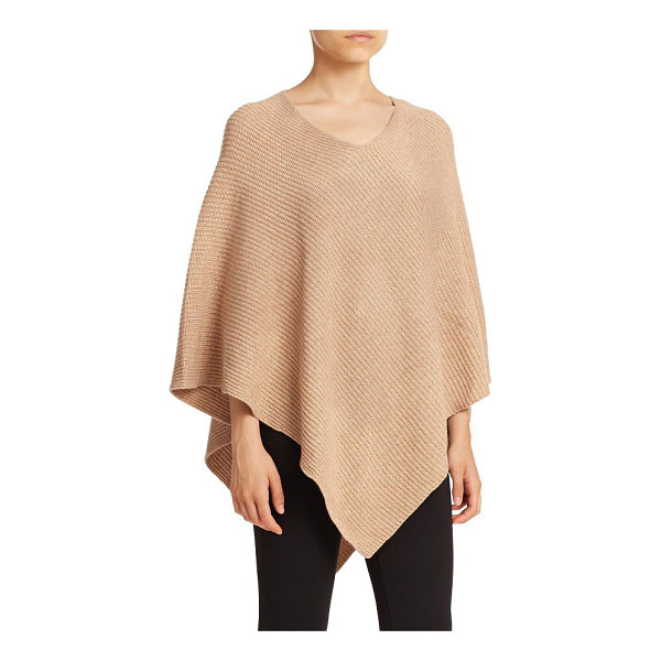 JOIE Gorgonie ribbed wool & cashmere poncho - EXCLUSIVELY AT SAKS. Wool and cashmere elevate this...