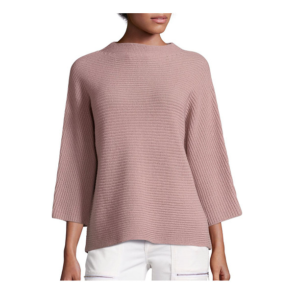 JOIE ife wool & cashmere sweater - Plush knit sweater in slightly boxy silhouette. Funnelneck....