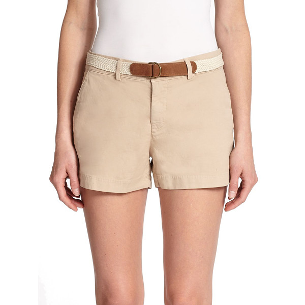 JOIE Jardin chino shorts - A casual-cool alternative to denim, this stretch-cotton...