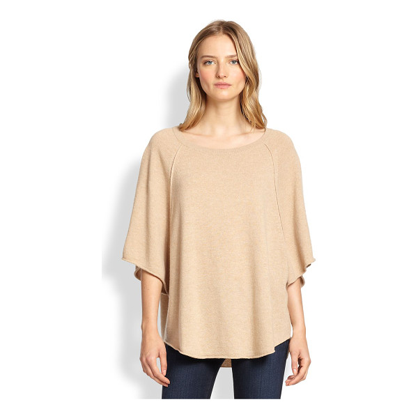 JOIE Jolena wool & cashmere poncho-style sweater - A draped, poncho-style silhouette enhances the soft,...
