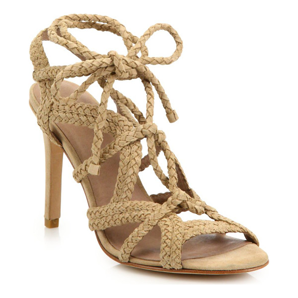 Joie Tonni Braided Suede Lace Up Sandals Nudevotion Com
