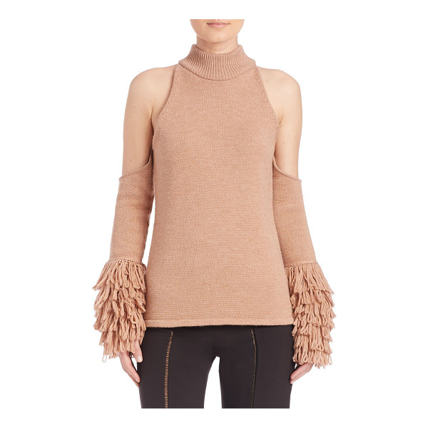 JONATHAN SIMKHAI loopy yarn cold shoulder pullover - Stunning pullover woven from luxurious mohair. Ribbed...