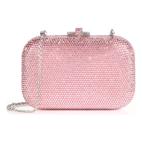 JUDITH LEIBER Crystal-embellished minaudiere - A signature design encrusted in sparkling crystals and...