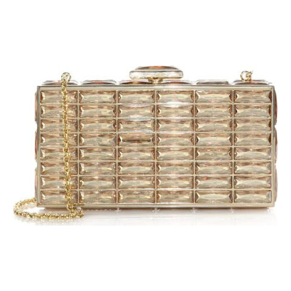 JUDITH LEIBER goddess swarovski crystal clutch - A stunning evening piece embellished with exquisite