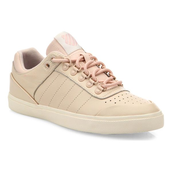 K-SWISS gstaad neu sleek leather sneakers - Court-inspired leather sneaker with perforated toe. Leather...