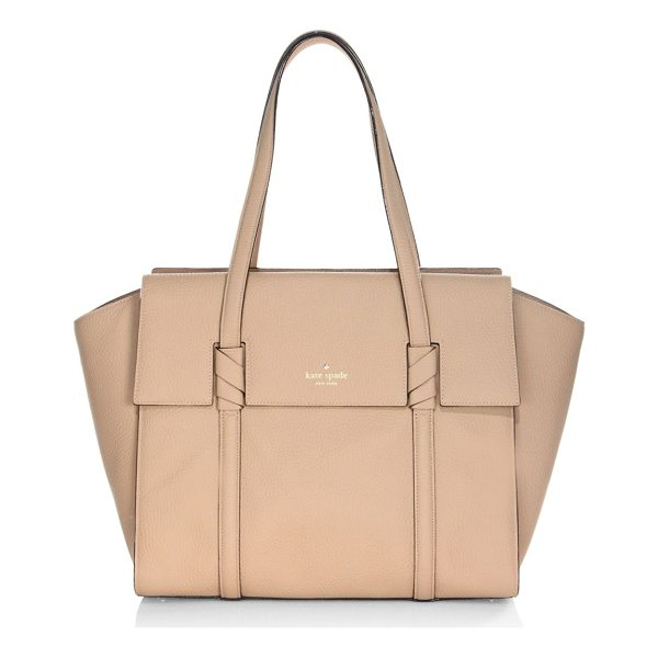 KATE SPADE NEW YORK daniels drive abigail leather satchel - From the Daniels Drive Collection. Spacious textured...
