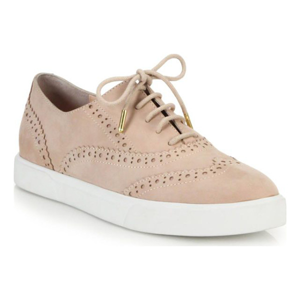 KATE SPADE NEW YORK Catlyn leather wingtip sneakers - The borrowed-from-the-boys polish of wingtip brogues meets...