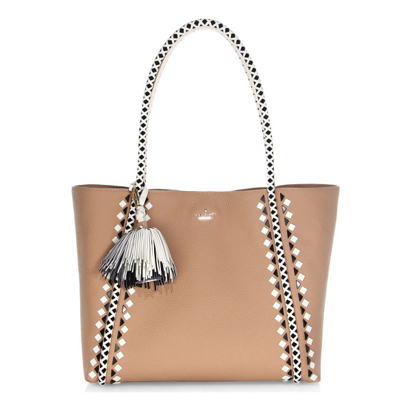 KATE SPADE NEW YORK crown street ronan leather tote bag - From the Crown Street Collection. Pebbled leather tote bag...