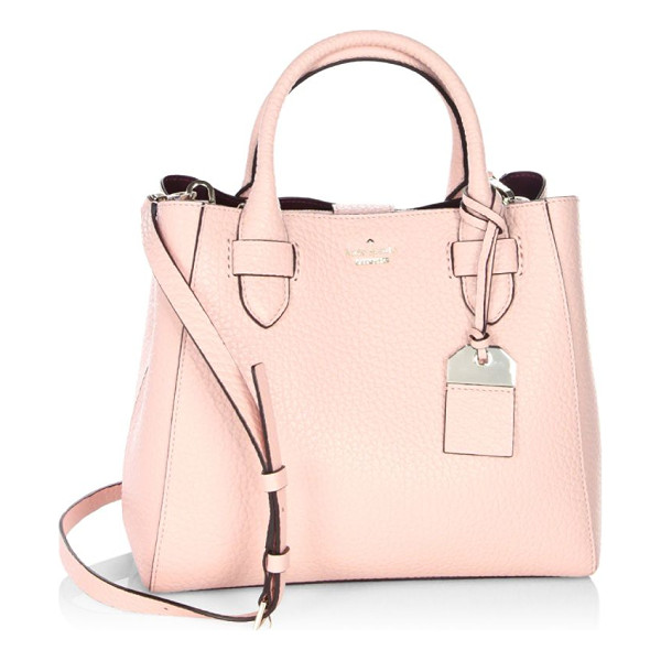 KATE SPADE NEW YORK carter street devlin leather satchel - From the Carter Street Collection. Top handle bag with a...