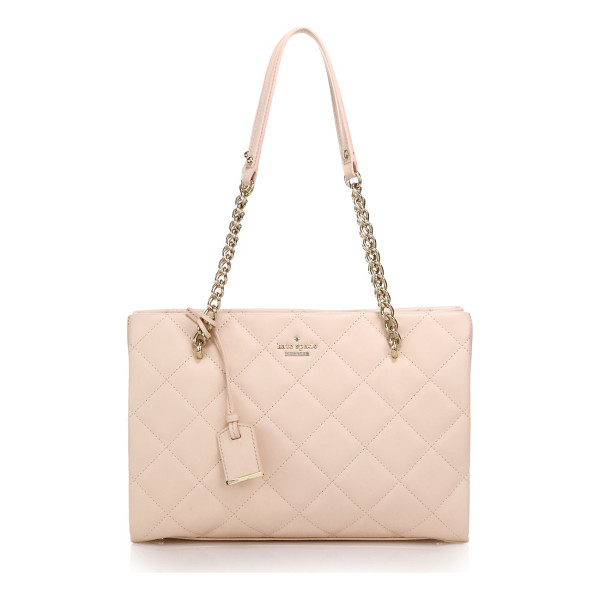 KATE SPADE NEW YORK Emerson place quilted leather tote - A quilted leather bag with chain shoulder straps is...