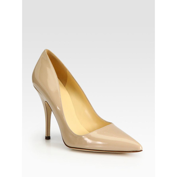 KATE SPADE NEW YORK Licorice patent leather pumps - Timeless point-toe silhouette made of Italian patent...