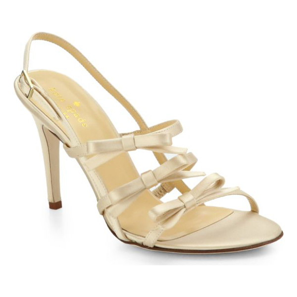 KATE SPADE NEW YORK Sally satin slingback sandals - A trio of slender straps in luxe satin are treated to neat...