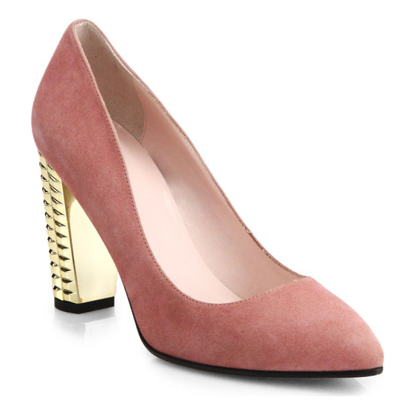 KATE SPADE NEW YORK Suede neptune pumps - Polished suede pumps in a timeless almond-toe silhouette...
