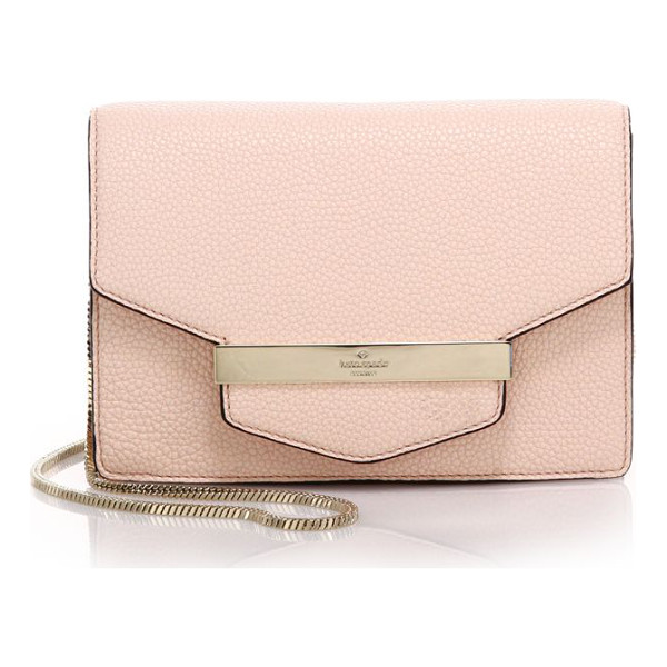KATE SPADE NEW YORK Tizzie leather crossbody bag - A sleek, minimal silhouette crafted of beautifully pebbled...