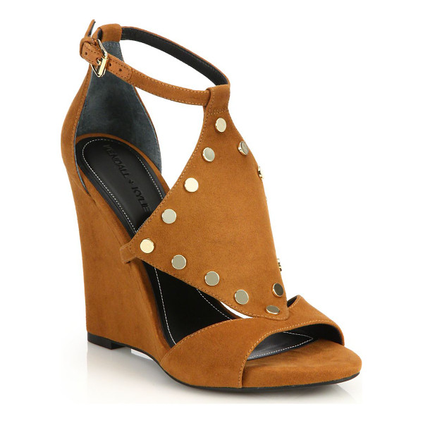 KENDALL + KYLIE Alexa studded suede wedge sandals - Shiny studs add boho-chic style to cutout suede...