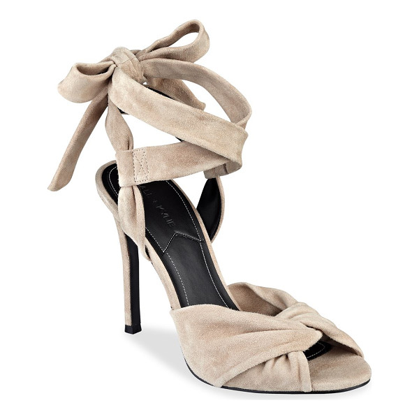 KENDALL + KYLIE delilah bow suede ankle tie sandals - Soft suede sandals designed with lovely bow tie....