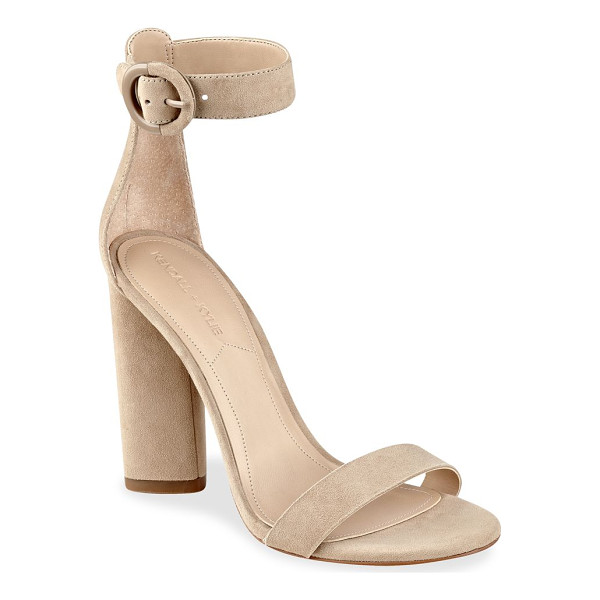 KENDALL + KYLIE giselle high-heel suede ankle strap sandals - Smooth suede sandals complement your fabulous look.