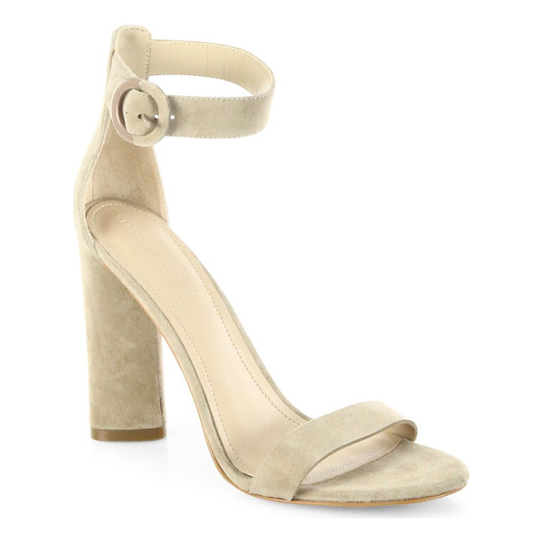 KENDALL + KYLIE giselle suede ankle-strap sandals - Minimalist suede ankle-strap sandal with round buckle.