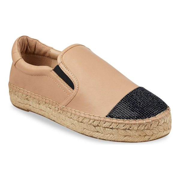 KENDALL + KYLIE joss leather espadrilles - Leather espadrilles with embellishments on toe. Platform,...